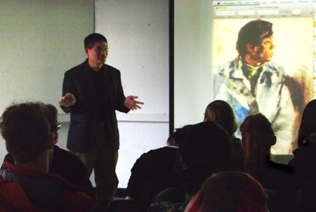 Yong Chen gave a lecture and presentation in Massachusetts College of Art and Design to share his professional experience and his passion for art and life.